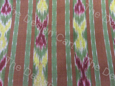 Multicolour Flower Bud Design Cotton Ikat Fabric