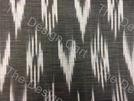 Black White Up Arrow Design Cotton Ikat Fabric - The Design Cart