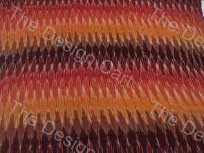 Multicolour Mixed Waves Design Cotton Ikat Fabric