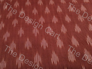 Brown Beetle Leaf Design Cotton Ikat Fabric