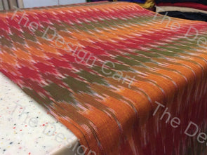 Multicolour Fainting Waves Design Cotton Ikat Fabric