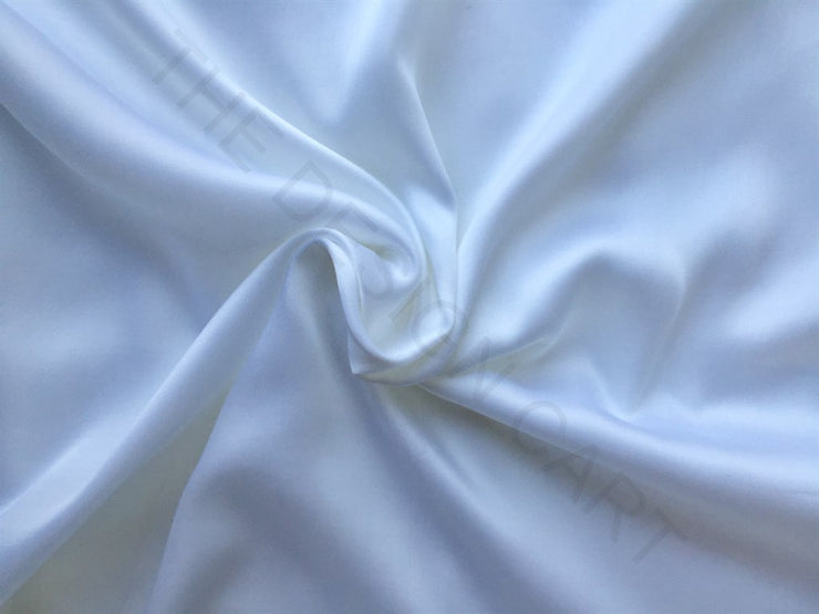 White Modal Satin Fabric | The Design Cart (3775088623650)