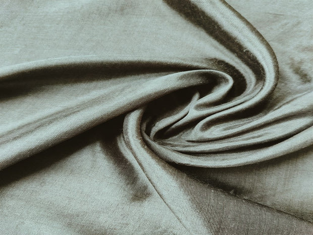 Olive Green Shantoon Polyester Fabric | The Design Cart