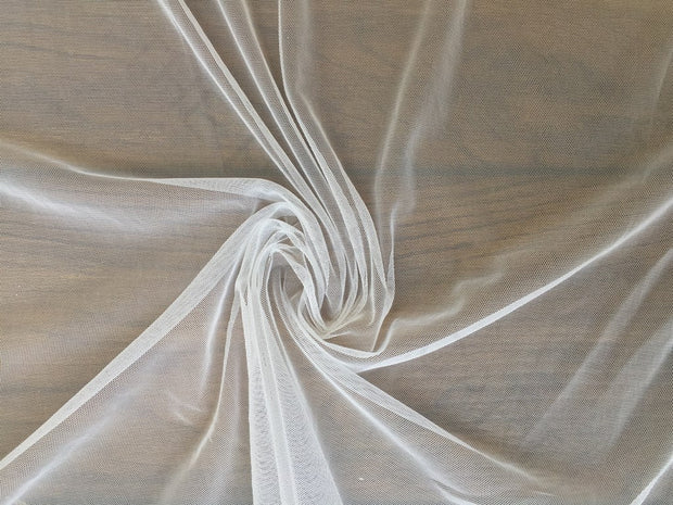 White Dyeable Soft Net Fabric | The Design Cart (3791477407778)