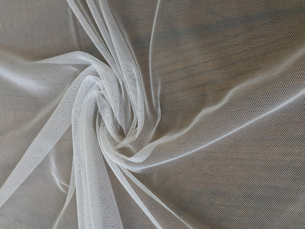 White Dyeable Soft Net Fabric | The Design Cart