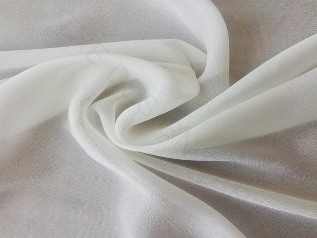 White Dyeable Royal Crepe Fabric | The Design Cart