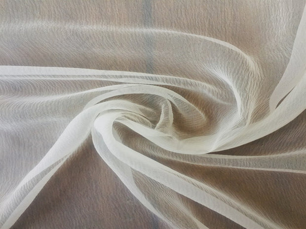 White Dyeable Pure chiffon Fabric | The Design Cart