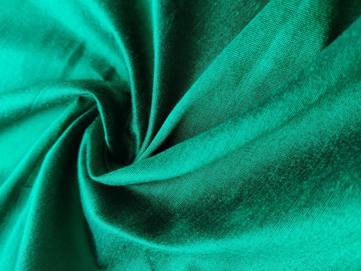 Emerald Green Banarasi Silk Fabric | The Design Cart