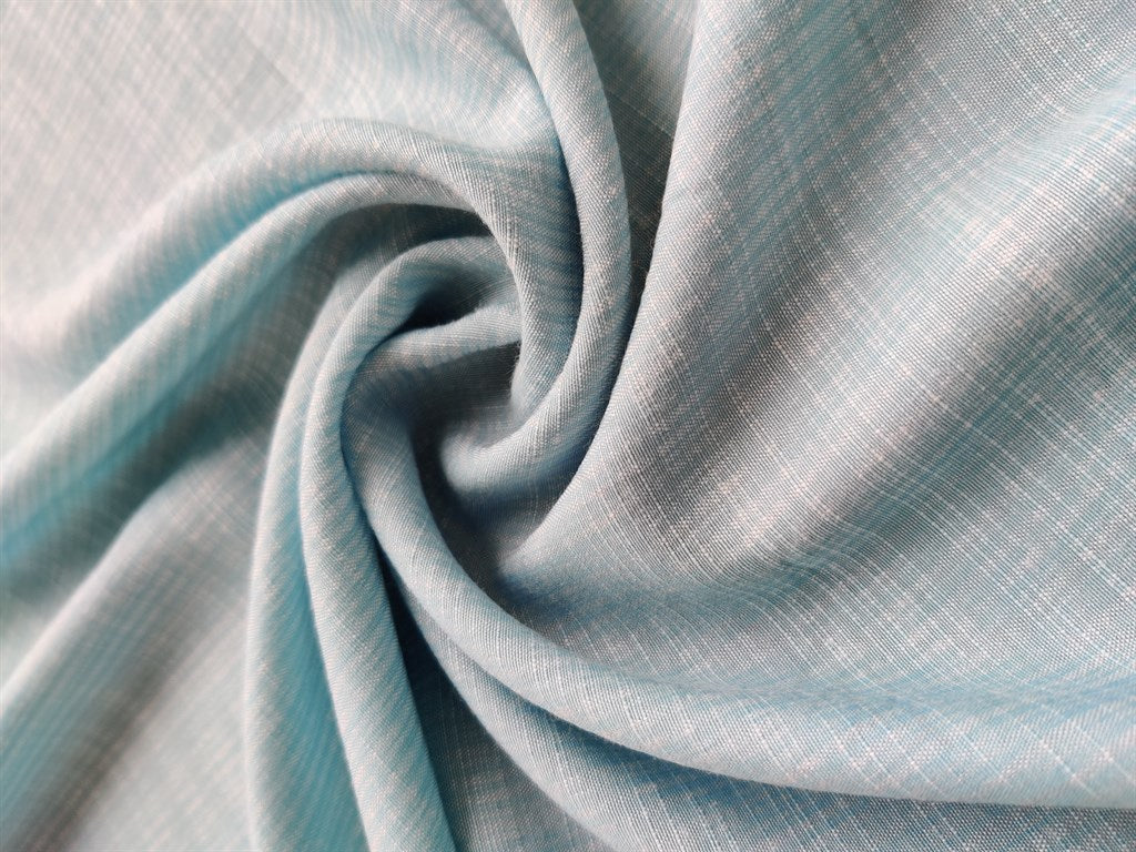 Light Blue Self Checks Cotton Fabric