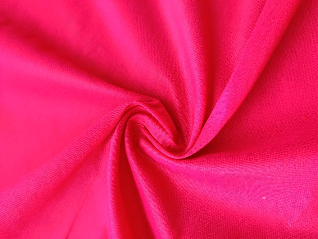 Bright Pink Banarasi Silk Slub Fabric