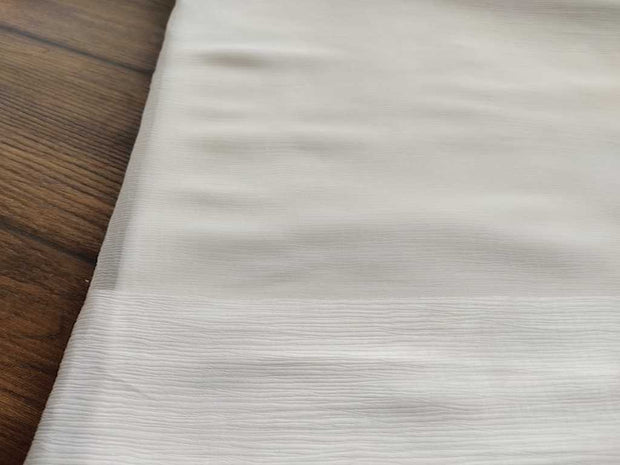 White Dyeable Chiffon With Double Sided Satin Border | The Design Cart (4360455913541)