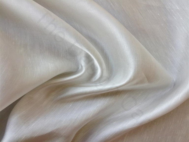 White Linen Satin Fabric | The Design Cart (3751408009250)