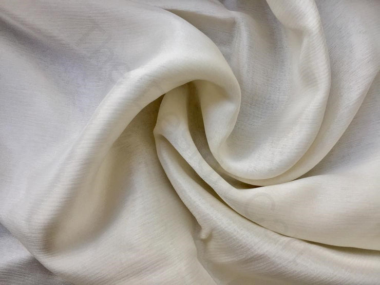 White Dyeable Chinon Chiffon Fabric | The Design Cart (3751408468002)