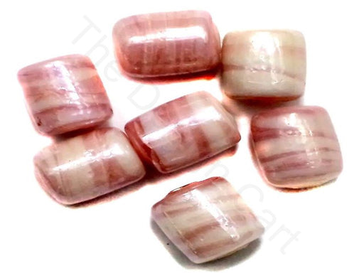 Pink Tube Glass Beads