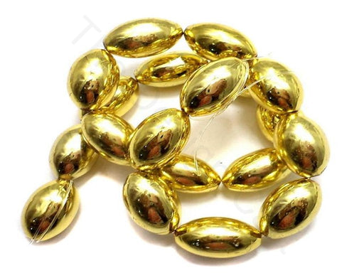 Golden Oval Acrylic Beads