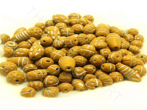 Golden Clay Beads