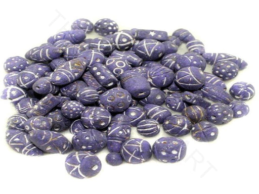 Purple Clay Beads