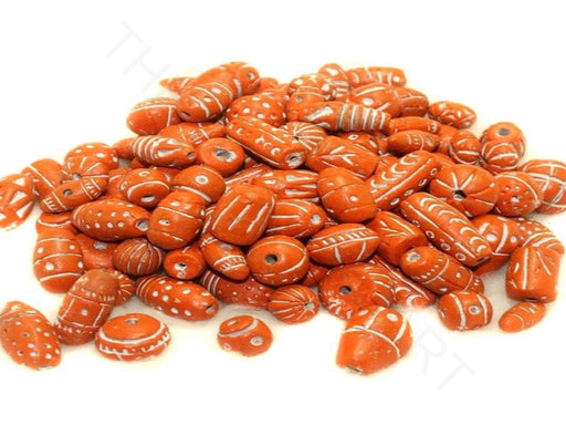 Light Orange Clay Beads