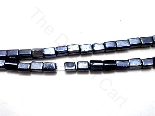 Silver Cubical Glass Beads