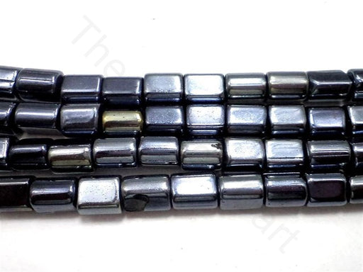 Silver Tube Glass Beads (8 mm)