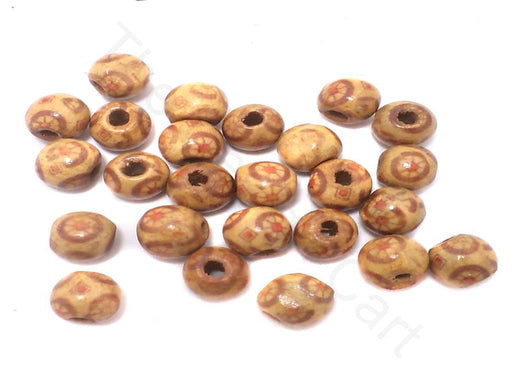 185+ Printed Wooden Round Beads