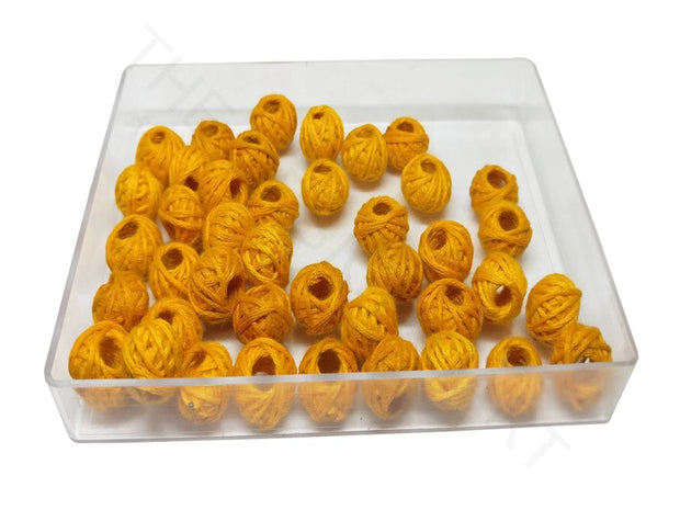 Light Orange Drum Woven Thread Beads | The Design Cart (4320839303237)