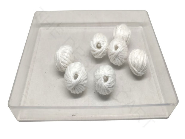 White Drum Woven Thread Beads | The Design Cart (4320840450117)