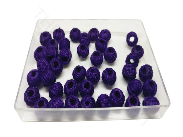 Purple Drum Woven Thread Beads | The Design Cart (4320840613957)