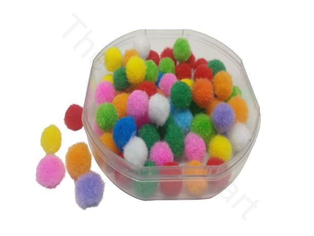 Assorted Pack Of Round Wool Pom Poms | The Design Cart