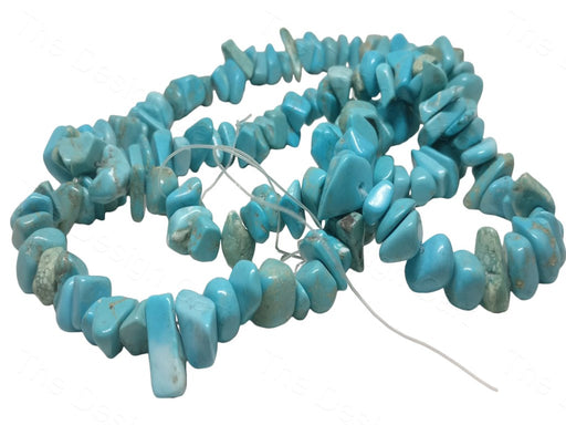 Light Blue Mixed Shape Stone Beads