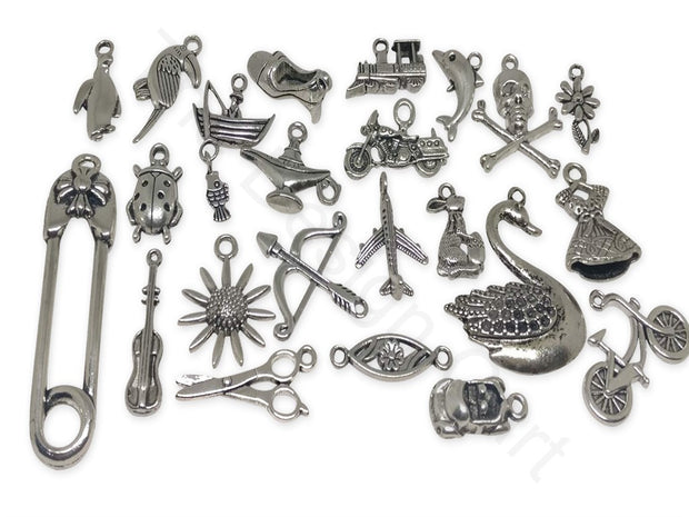 Assorted Shapes Antique Silver Charms | The Design Cart (1862584533026)