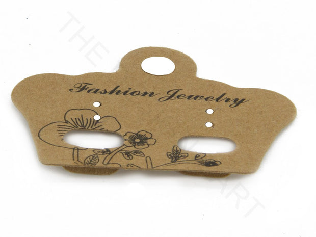 Brown Crown Plastic Earring Display Card | The Design Cart (4357673025605)