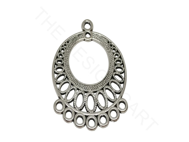 Antique Silver Round Dangler Making Connectors | The Design Cart