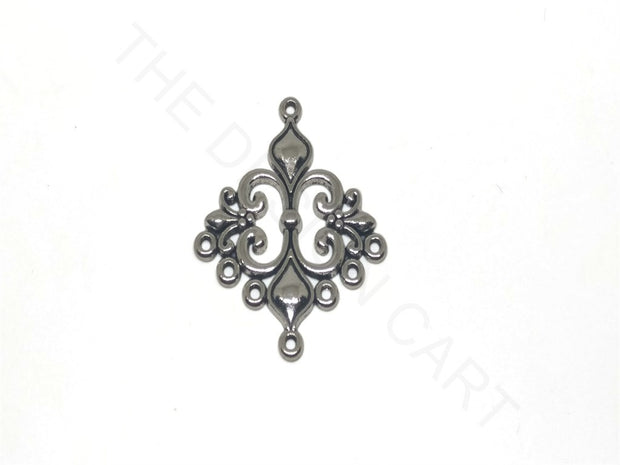 Antique Silver Rhombus Dangler Making Connectors | The Design Cart