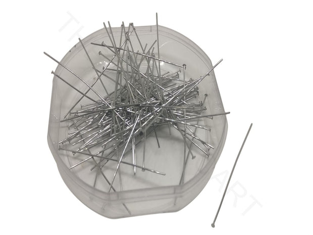 Silver Stainless Steel Head Pins | The Design Cart