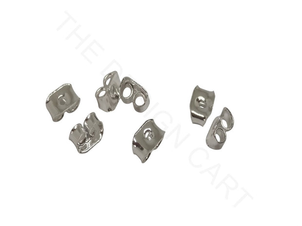 Silver Rectangular Earring Stoppers | The Design Cart