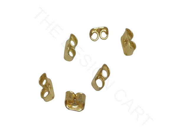 Golden Rectangular Earring Stoppers | The Design Cart