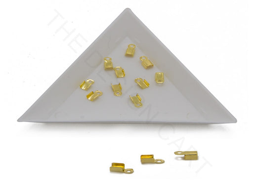 Golden Crimp End Clasps (6x3 mm)