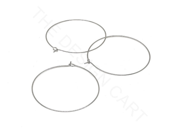 Silver Ear Hoops | The Design Cart