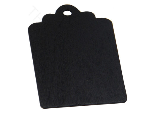Black Rectangular Wooden Pendant Base