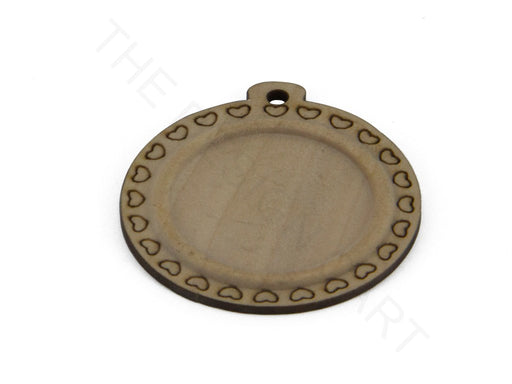 Brown Round Designer Wood Pendant Base