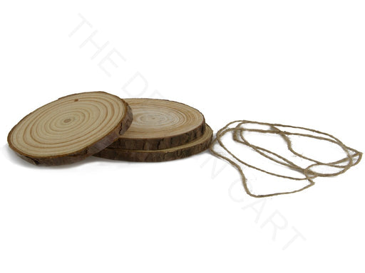 Brown Round Wooden Pendant Base