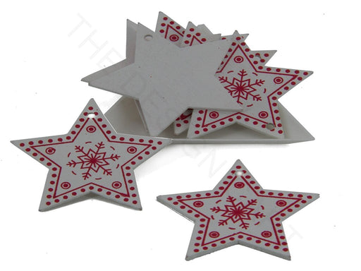 White Red Designer Star Pendant Base