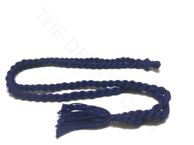 Dark Blue Adjustable Back Rope Necklace Dori | The Design Cart