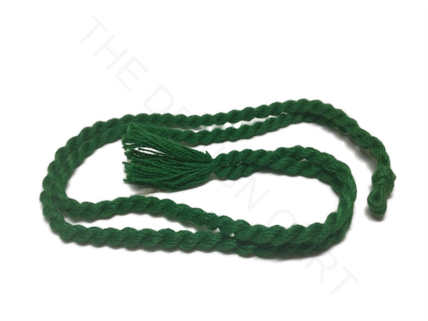 Dark Green Adjustable Back Rope Necklace Dori | The Design Cart