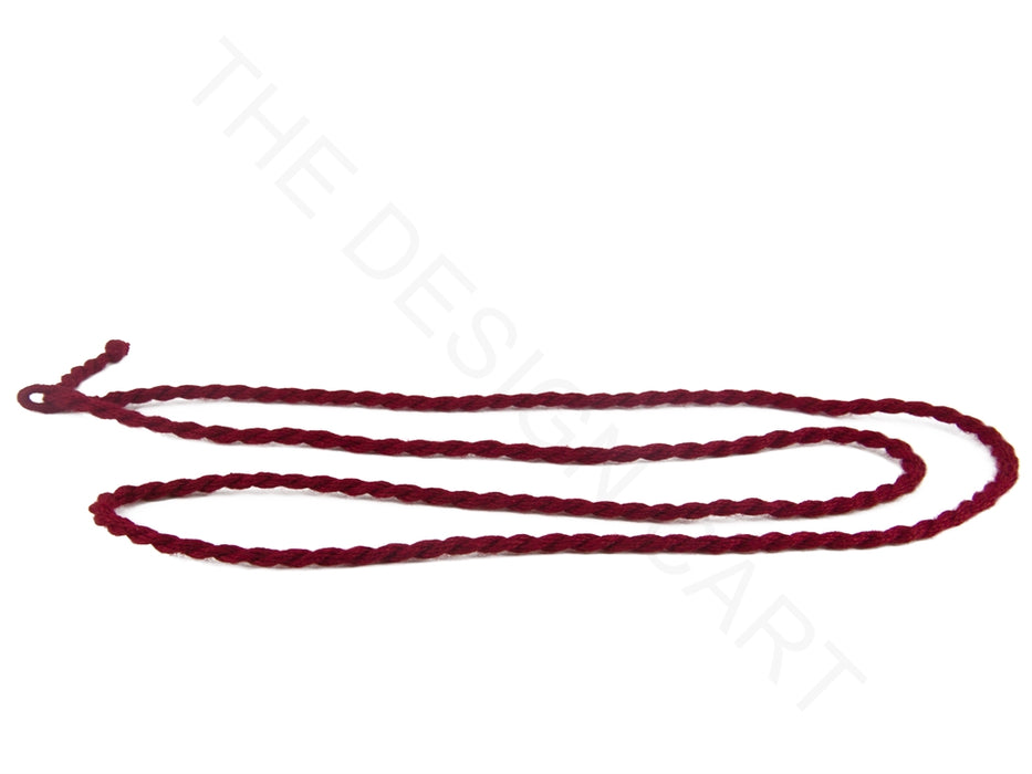 Maroon Handmade Jewelry Making Rope Cotton Dori