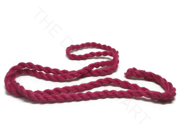 Dark Pink Handmade Jewelry Making Rope Cotton Dori | The Design Cart