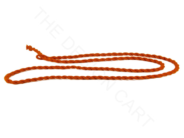 Orange Handmade Jewelry Making Rope Cotton Dori | The Design Cart