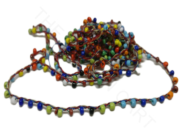 Multicolour Glass Bead Jewelry Making Cord | The Design Cart