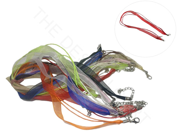 Multicolour Organza Necklace Jewelry making Cord | The Design Cart